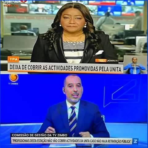 TPA e TV zimbo deixarão de cobrir actividade da UNITA